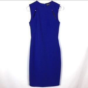 Top shop cobalt blue body con dress size 4